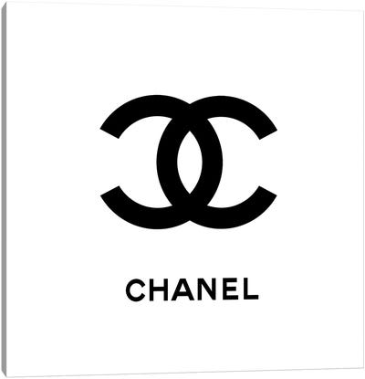 Chanel White Canvas Art Print