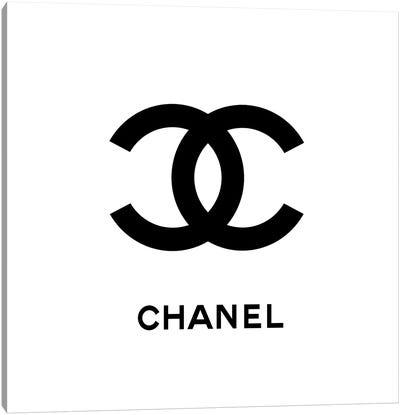 Chanel White Canvas Art Print