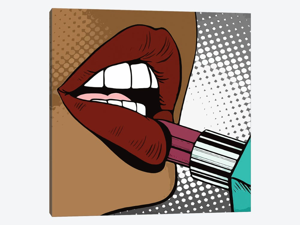 To Paint Lips With Lipstick by Art Mirano 1-piece Art Print