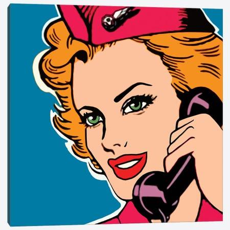 Stewardess Pop Art Canvas Print #ARM630} by Art Mirano Canvas Artwork