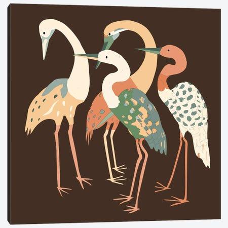 Birds On The Brown Illustration Canvas Print #ARM637} by Art Mirano Art Print