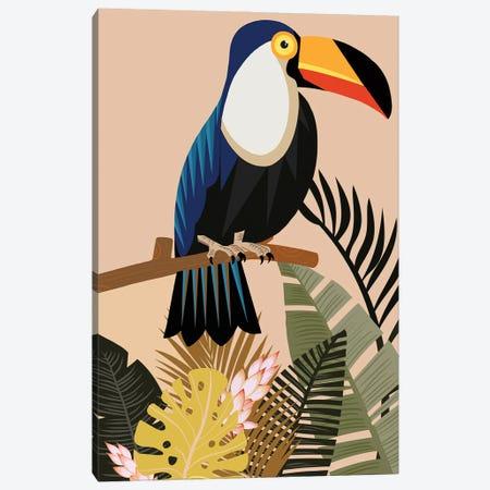 Vintage Natural Imprint Tropical Canvas Print #ARM638} by Art Mirano Canvas Artwork