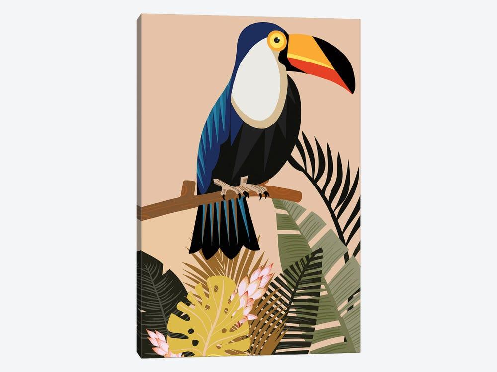 Vintage Natural Imprint Tropical by Art Mirano 1-piece Canvas Print