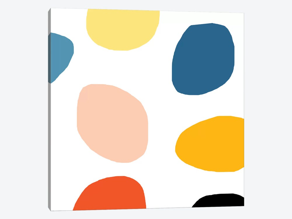 Colored Dots by Art Mirano 1-piece Canvas Print