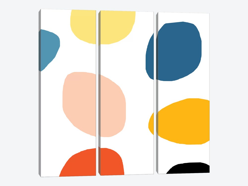 Colored Dots by Art Mirano 3-piece Canvas Art Print