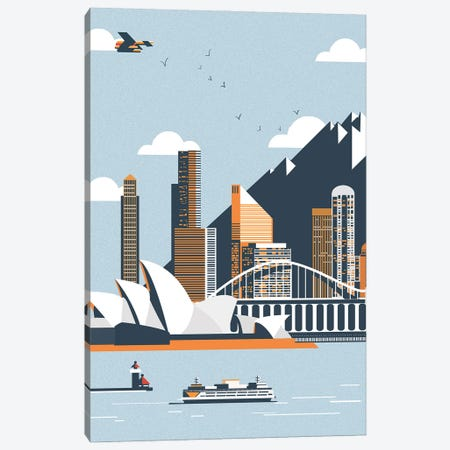 Sydney City Landscape Canvas Print #ARM650} by Art Mirano Canvas Artwork