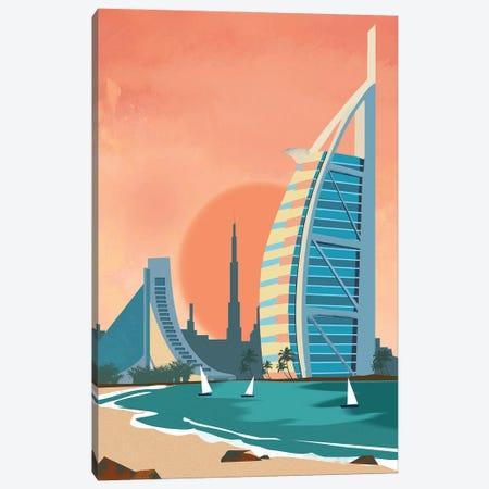 Сity Dubai Architectural Scenery Canvas Print #ARM651} by Art Mirano Canvas Artwork