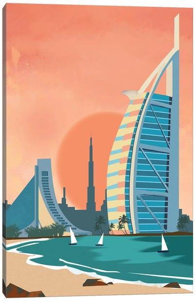 Сity Dubai Architectural Scenery Canvas Art Print