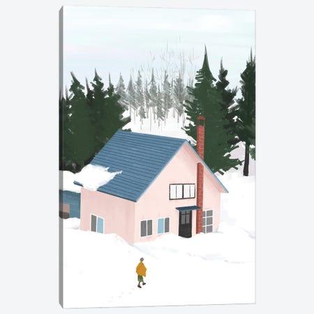 Winter Snowing Snow Canvas Print #ARM655} by Art Mirano Canvas Art Print