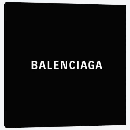 Bb Balenciaga Black Canvas Print #ARM660} by Art Mirano Canvas Print