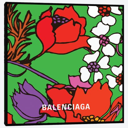 Balenciaga Flowers Canvas Print #ARM662} by Art Mirano Canvas Art Print