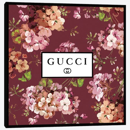 Gucci In Flowers Canvas Print #ARM666} by Art Mirano Canvas Art