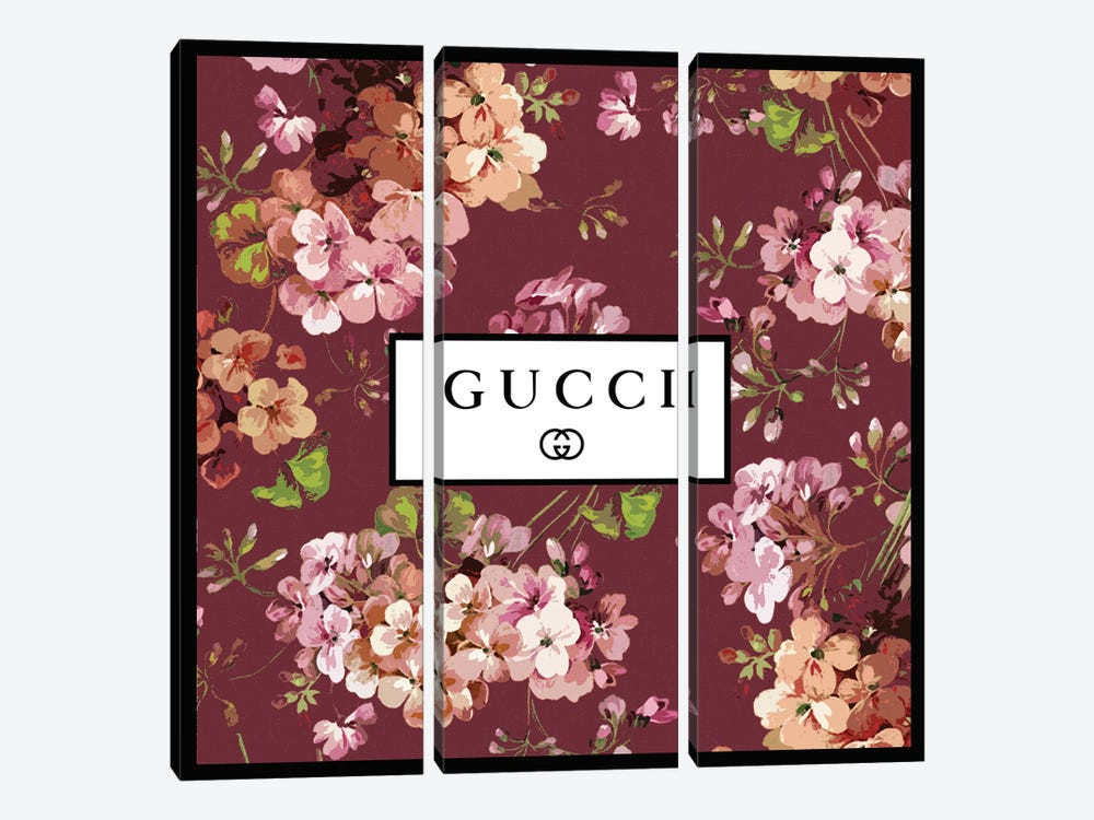 Gucci In Flowers by Art Mirano 3-piece Canvas Wall Art