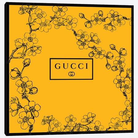 Yellow Gucci Prunus Serrulata Flowers Canvas Print #ARM667} by Art Mirano Canvas Artwork