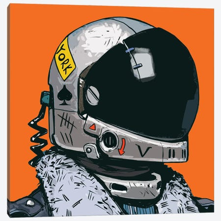 Astronaut New York Canvas Print #ARM679} by Art Mirano Canvas Art
