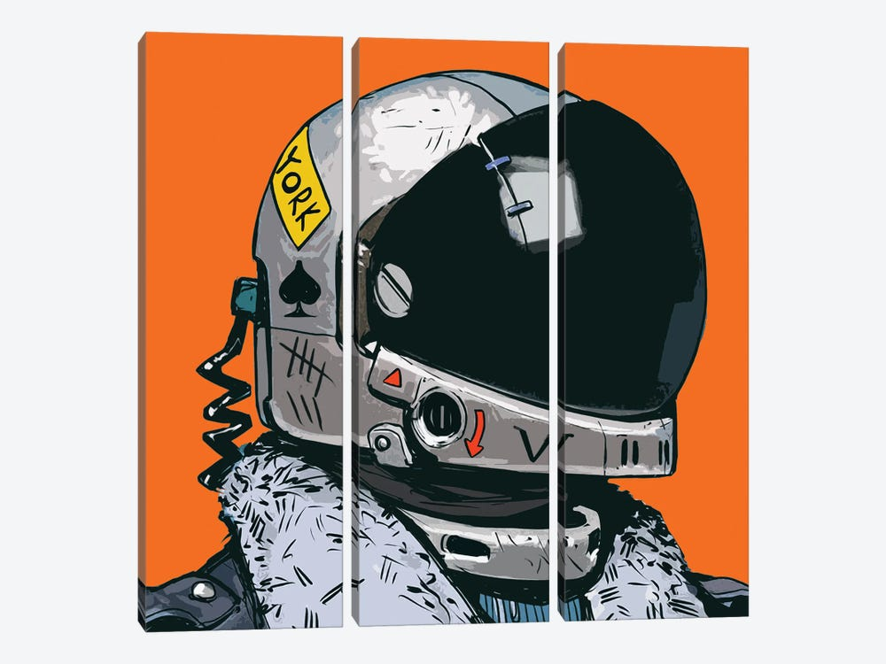 Astronaut New York by Art Mirano 3-piece Canvas Art
