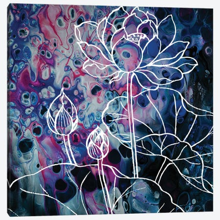 Flower Lotus In Abstraction Canvas Print #ARM684} by Art Mirano Canvas Artwork