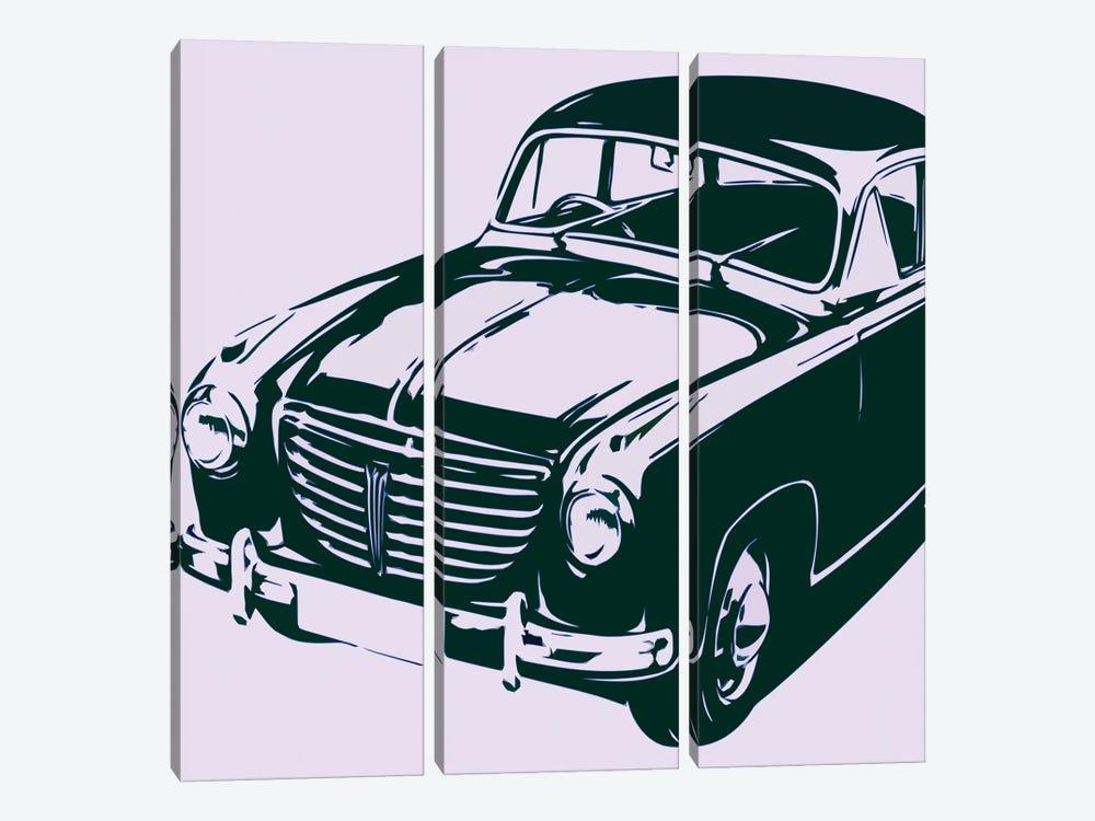 Retro Car by Art Mirano 3-piece Canvas Print