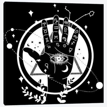 Palmistry Black Canvas Print #ARM703} by Art Mirano Canvas Artwork