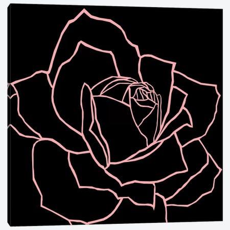 Danna Black Pink Canvas Print #ARM70} by Art Mirano Canvas Art Print