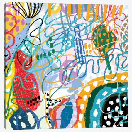 Sia Coloring Abstraction Canvas Print #ARM736} by Art Mirano Canvas Wall Art