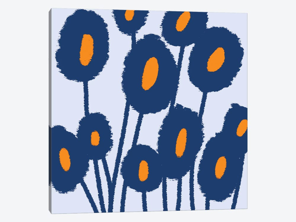 Gogoa Abstract Flowers by Art Mirano 1-piece Canvas Artwork