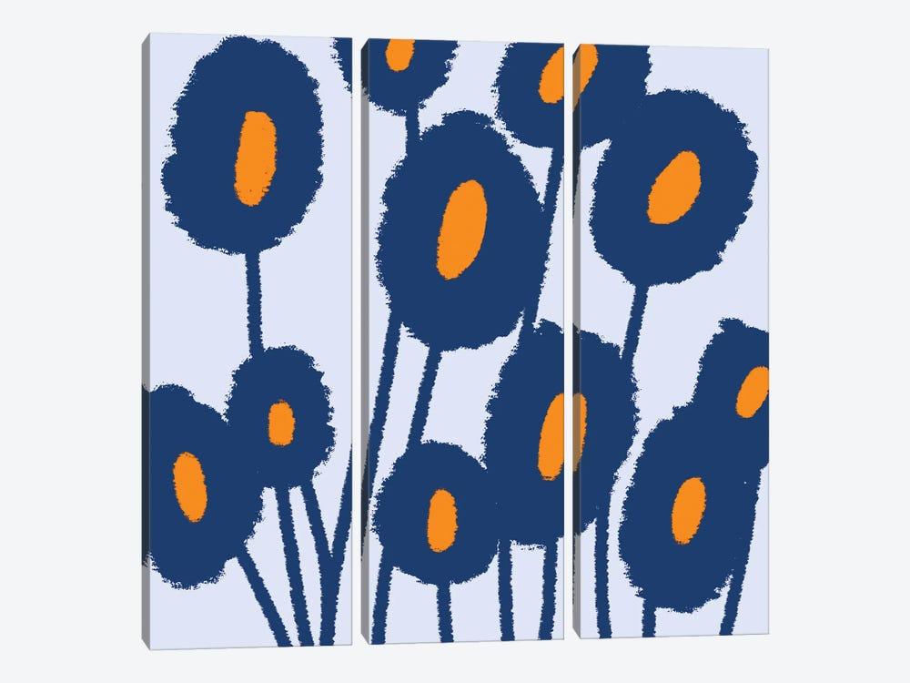 Gogoa Abstract Flowers by Art Mirano 3-piece Canvas Art