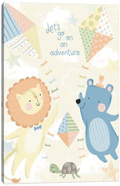 Baby's Balloon Adventure II Canvas Art Print