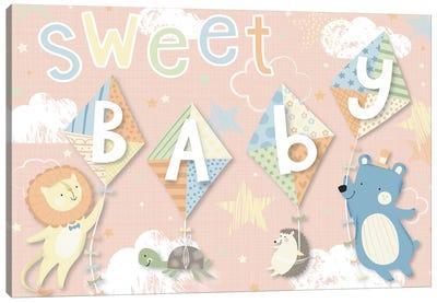 Baby's Balloon Adventure IV Canvas Art Print