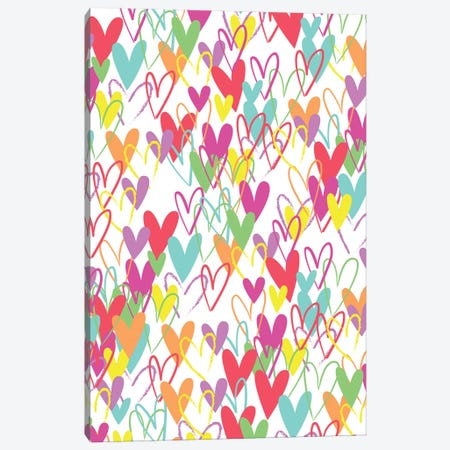 Hearts Canvas Print #ARR21} by Arrolynn Weiderhold Art Print