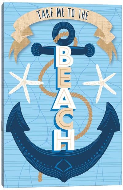 Beach Fun III Canvas Art Print