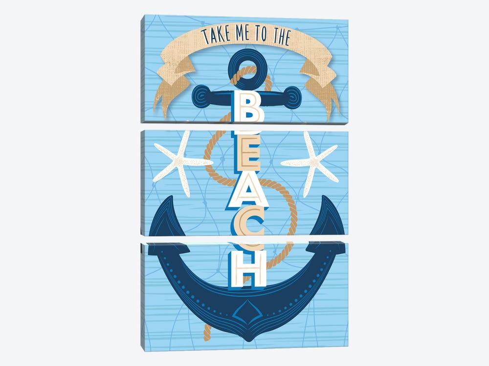 Beach Fun III by Arrolynn Weiderhold 3-piece Canvas Artwork