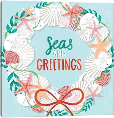 Seas & Greetings III Canvas Art Print