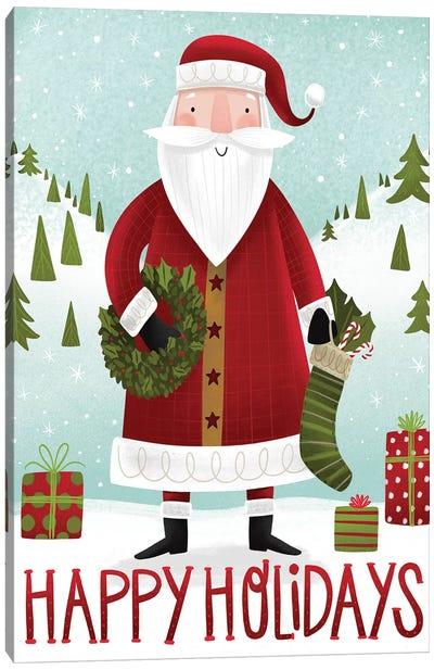 Folk Santa Canvas Art Print