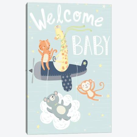 Baby's Adventure II Canvas Print #ARR3} by Arrolynn Weiderhold Art Print