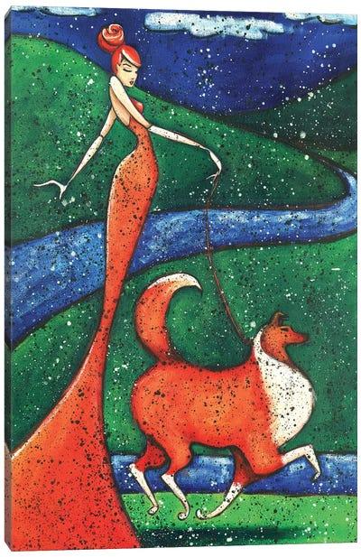 Collies Canvas Art Print