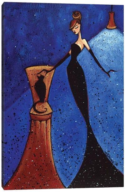 Femme Et Chat I Canvas Art Print