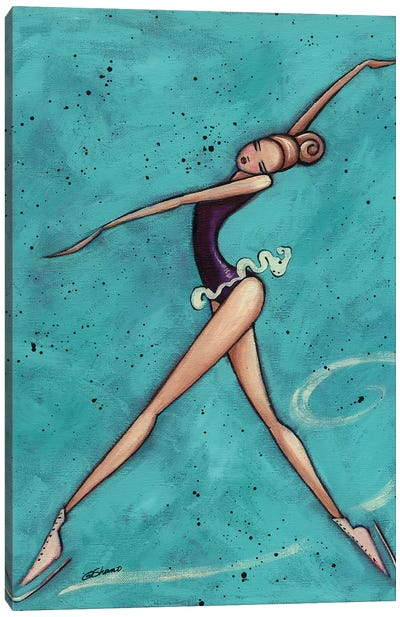 Figure Skater Canvas Art Print