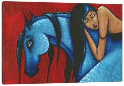 Forbearance Brunette Canvas Art Print
