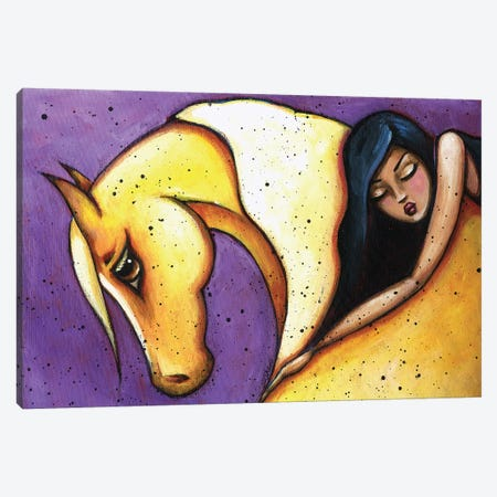 Forbearance Palomino Brunette Canvas Print #ARS28} by ArtByShano Canvas Artwork