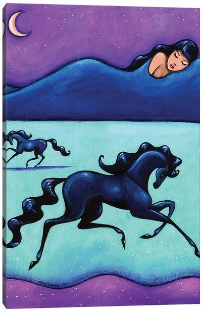 All The Pretty Horses Black Horses Canvas Art Print