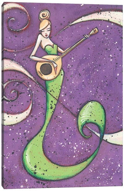 Musical Mermaid Canvas Art Print