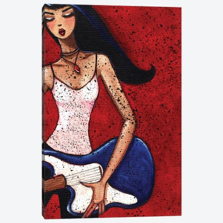 Rocker Girl Canvas Print #ARS59} by ArtByShano Canvas Print