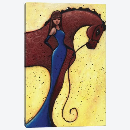 Warm Bloods Curly Canvas Print #ARS75} by ArtByShano Canvas Artwork