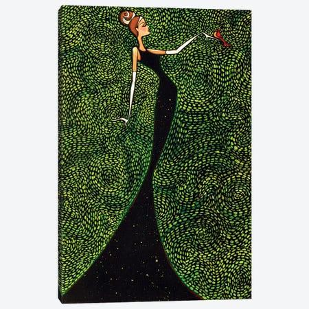 Cardinal Elegance Canvas Print #ARS9} by ArtByShano Canvas Art
