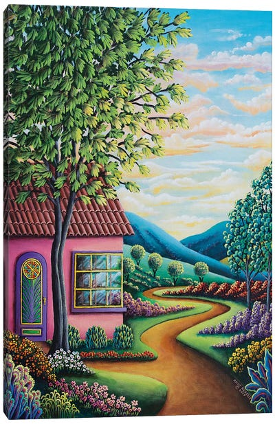 Pink House Canvas Art Print