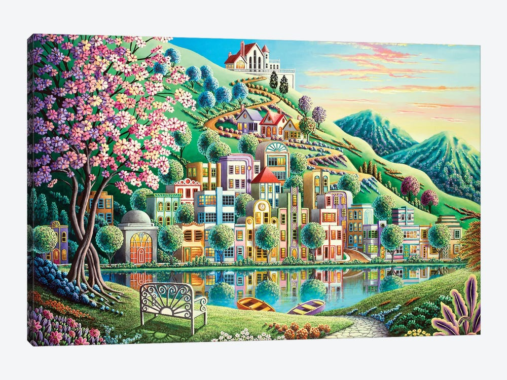 Blossom Park by Andy Russell 1-piece Canvas Print