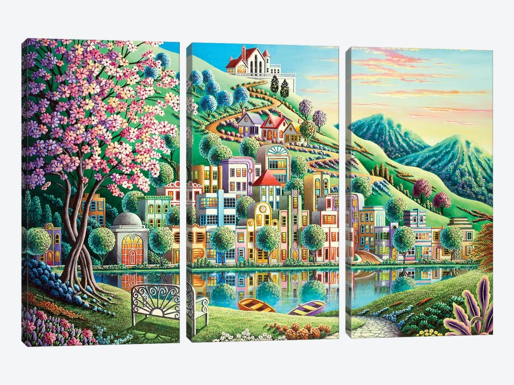 Blossom Park by Andy Russell 3-piece Canvas Art Print