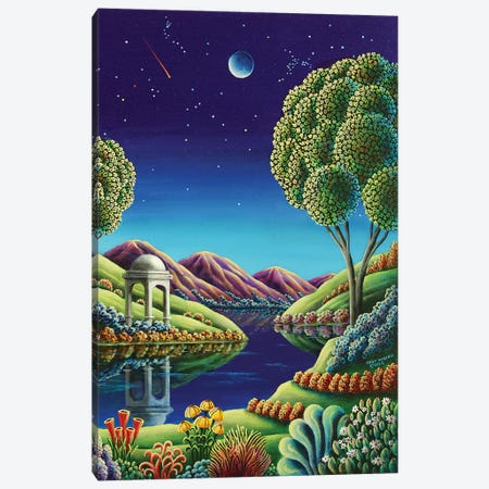 Blue Moon Rising Canvas Print #ARU6} by Andy Russell Art Print