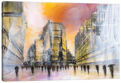 Down Town Canvas Art Print
